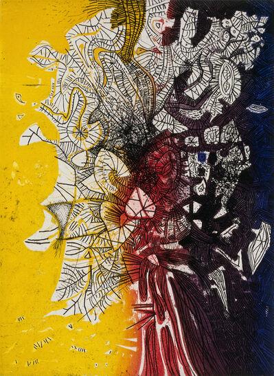 Mario Prassinos, 'Yellow-Red-Black Tree', 1962