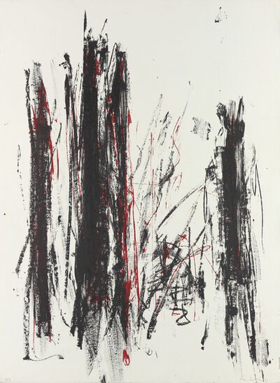 Joan Mitchell, 'Arbres (Black and Red)', 1991-92