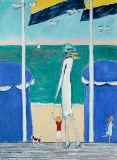 Jean-Pierre Cassigneul, 'Promenade sur les Planches Deauville', ca. 1975