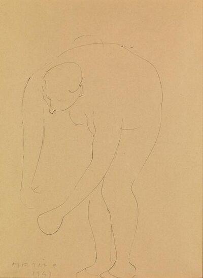 Marino Marini, 'Female figure chinata', dated 1943