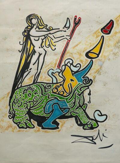 Salvador Dalí, 'La Vierge et le Rhinoceros', 1973