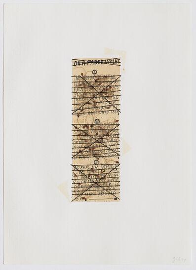 Elisabetta Gut, 'On a faded violet', 1979