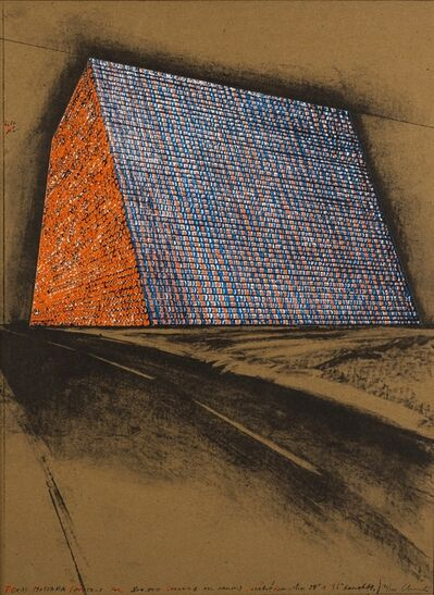 Christo and Jeanne-Claude, 'Texas Mastaba, Project for 500,000 Stacked Oil Drums (Schellmann 85)', 1976