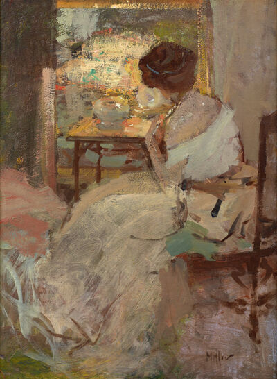 Richard E. Miller, 'Woman in a White Dress (Lady in a White Evening Gown)', 1904-1908