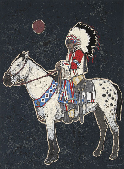 Kevin Red Star, 'Yellow Mule', ca. 1980