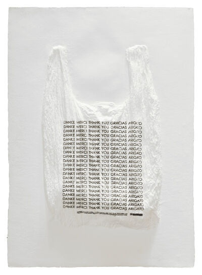 Analía Saban, 'DANKE MERCI THANK YOU GRACIAS ARIGATO Plastic Bag', 2016