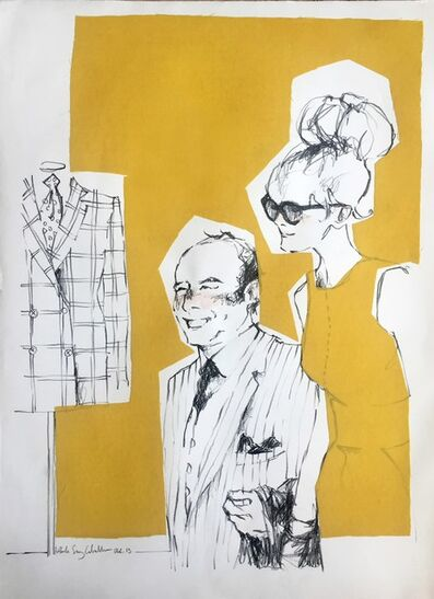 Paula Sanz Caballero, 'Big Couple Yellow background', 2013