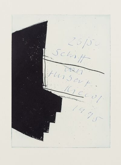 Hubert Kiecol, 'Schiff Ohne Aquavit', 1995