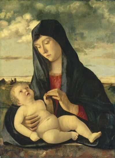 Giovanni Bellini, 'Madonna and Child in a Landscape', ca. 1480/1485