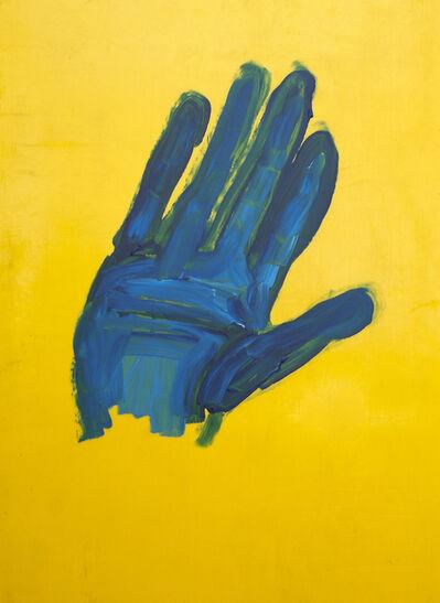 Oscar Figueroa, 'Portrait of Blue Palm (double-sided painting)', 2017