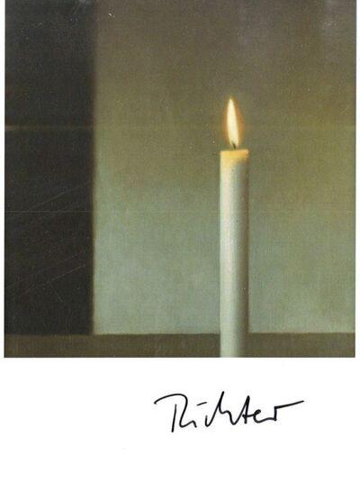 Gerhard Richter, 'Kerze (Hand Signed Card)', ca. 1985