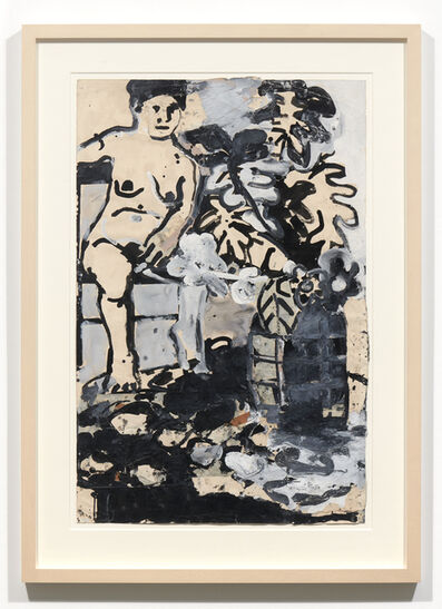 Joan Brown, 'Untitled (Seated woman)', c. 1962