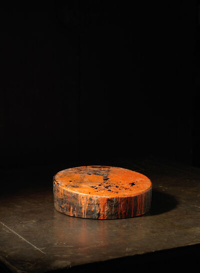 Unknown Japanese, 'A solid keyaki wood (type of Elm) circular lacquering block', 20th century