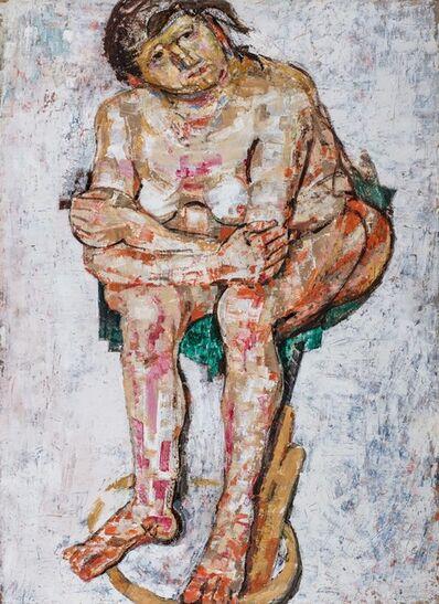 Fausto Pirandello, 'Man sitting', 1987