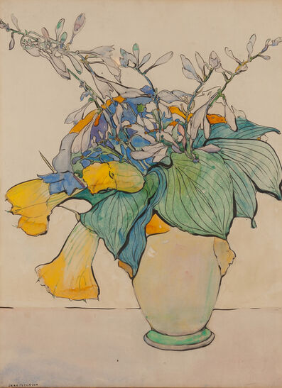 Jane Peterson, 'Squash in Yellow Vase', ca. 1925