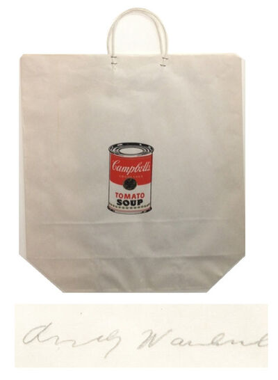 "Andy Warhol, '""Campbell's Soup Can Shopping Bag"", 1964, Bianchini Gallery NYC Exhibition Edition Silkscreen, SIGNED/Dated,  RARE', 1964"