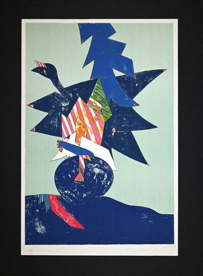 Gianni Dova, 'Blue Composition', 1970s