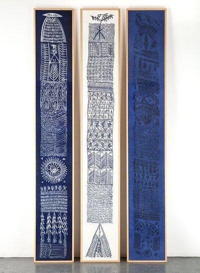 Rachid Koraïchi, 'Les Sept Variations Indigo 1 - 21', 2002