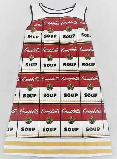 "Andy Warhol, '""Campbells Soup Dress"", Silk Screen on Paper, Original Paper Work, Near Mint Condition, MUSEUM QUALITY ', 1966"