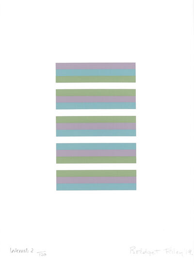 Bridget Riley, 'Intervals II', 2019
