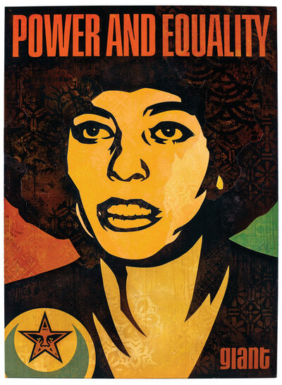 Shepard Fairey, 'Angela Power and Equality', 2018