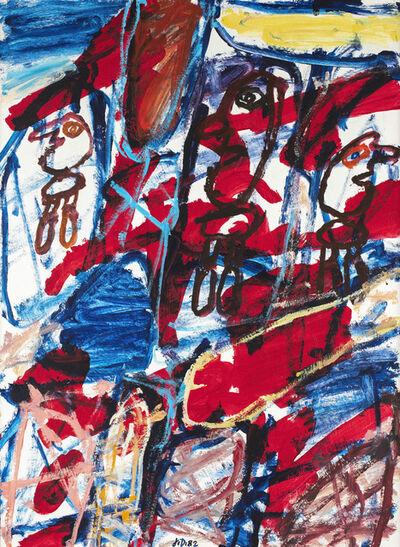 Jean Dubuffet, 'Psycho-site E470, Site avec trois personnages', 1982