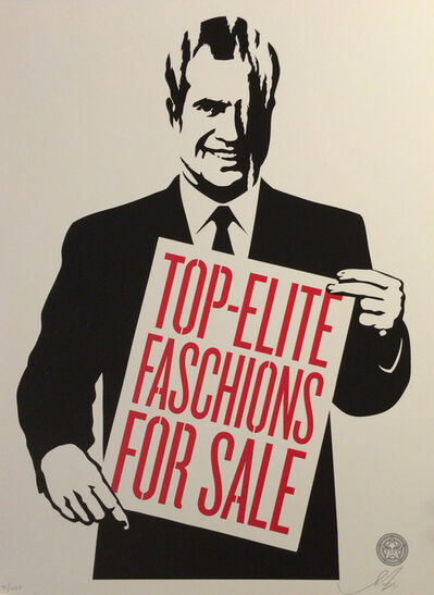 Shepard Fairey, 'Top-Elite Faschions for Sale', 2011