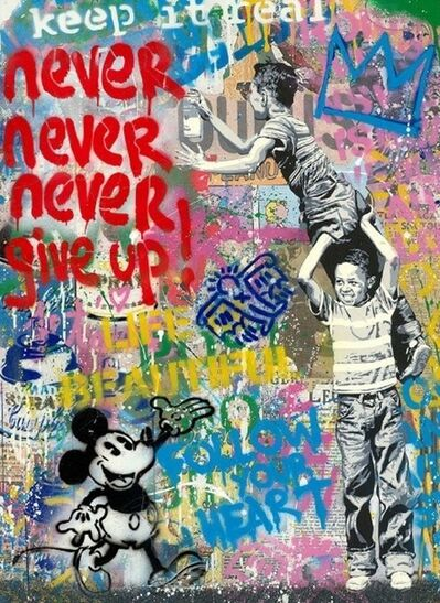Mr. Brainwash, 'Never, Never Give Up! (Mickey)', 2020
