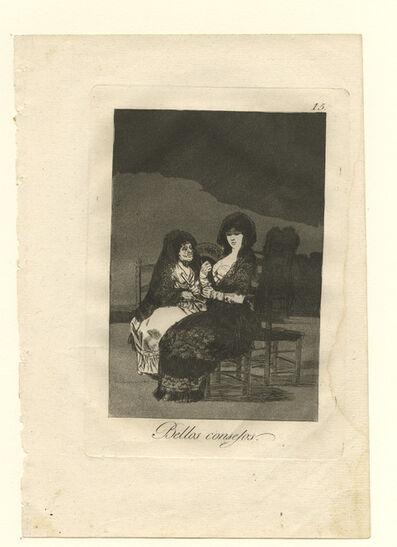 Francisco de Goya, 'Bellos consejos. (Pretty teachings)', 1799