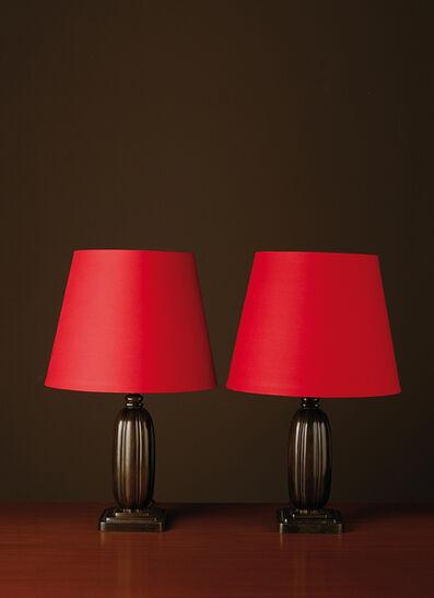 Just Andersen, 'Modele D1859, Pair of lamps', vers 1940