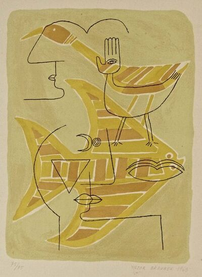 Victor Brauner, 'Figures with Animals', 1963