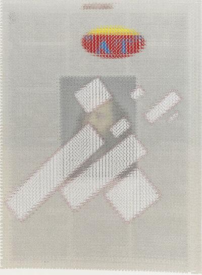 John Sparagana, 'Kazimir Malevich Flying Rectangles, Albert Oehlen Poster Fragment, Rick Rubin', 2014