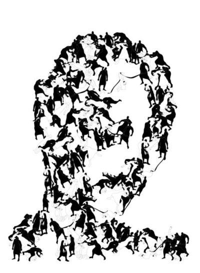 Parastou Forouhar, 'Portraits (II)', 2014