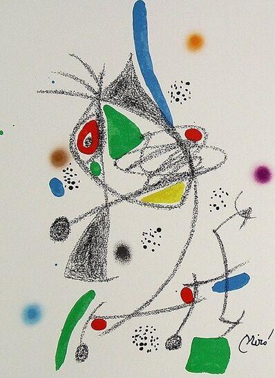 Joan Miró, 'Maravillas con variaciones acrósticas en el jardín de Miró IV', 1975