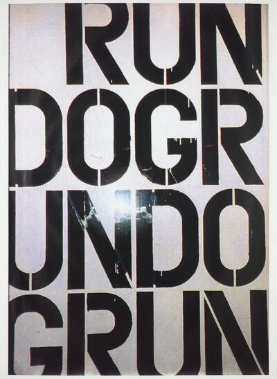 Christopher Wool, 'Run Dog Run: one plate', 1991