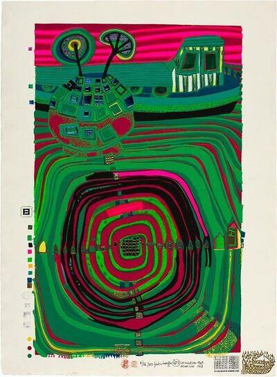 Friedensreich Hundertwasser, 'Slow Travel Under The Sun (Koschatzky 40)', 1969