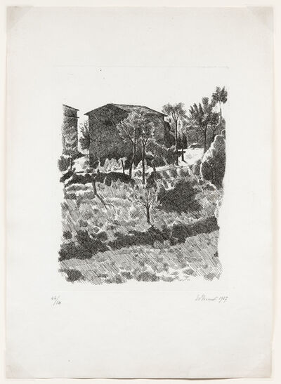 Giorgio Morandi, 'Il Poggio al mattino, 1927 (Vitali 35)', 1927