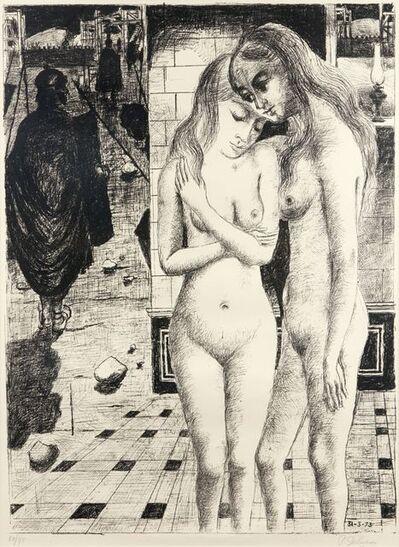 Paul Delvaux, 'The Captives [Jacobs 66]', 1973