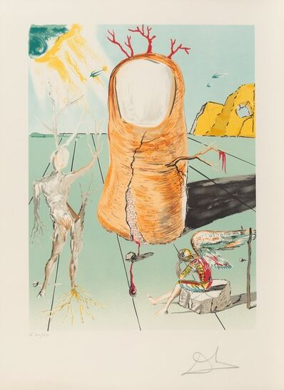 Salvador Dalí, 'The Vision of the angel of Cap Creus', 1979