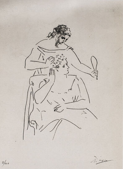 Pablo Picasso, 'La Coiffure (The Hairstyle), 1949 Limited edition Lithograph by Pablo Picasso', 1949
