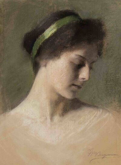 William-Adolphe Bouguereau, 'Study of a Woman', ca. 1895