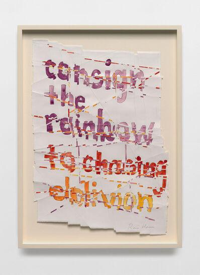 Roni Horn, 'Hack Wit - rainbow oblivion', 2014