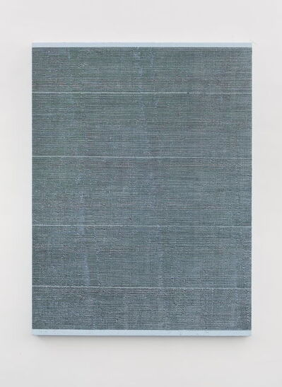 Chi Qun 迟群, '四条细线 - 绿灰 Four Thin Lines - Green and Gray', 2018