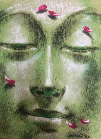 "Sanatan Dinda, 'Yugpurush, Dry Pastel on Paper by Contemporary Artist ""In Stock""', 2020"