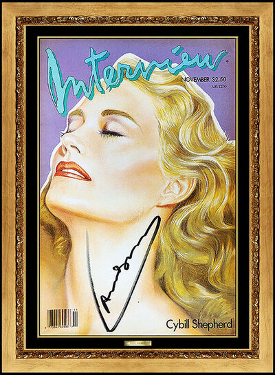 Andy Warhol, 'ANDY WARHOL Authentic Signed Color Lithograph Cybill Shepherd Portrait Photo Art', 1970-1989
