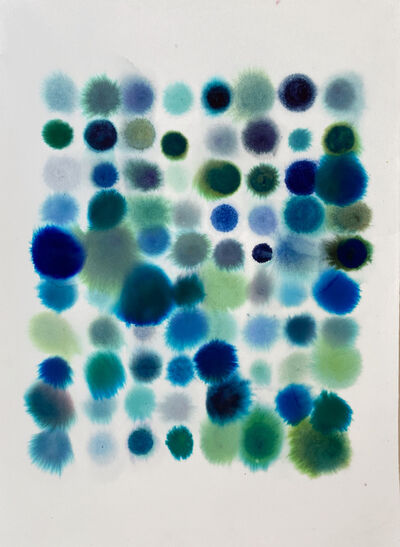 Lourdes Sanchez, '80 Dots, Mostly Blue-Green', 2020