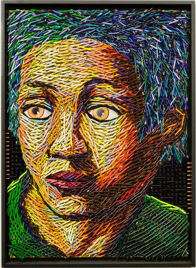 Federico Uribe, 'Portrait (Blue Hair)', 2016