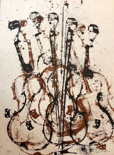 Arman, 'Violent Violin Concerto Hand Signed Lithograph Silkscreen', 1970-1979