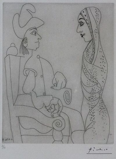 Pablo Picasso, 'Conquistador et femme marocaine 12 Avril 1970 III', 1978