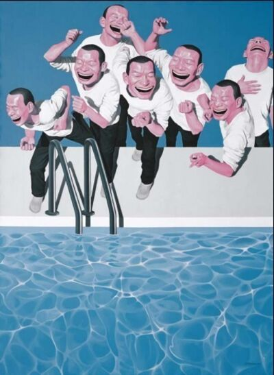 Yue Minjun, 'Take the Plunge', 2009